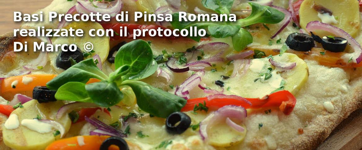 Basi precotte di Pinsa Romana con protocollo Di Marco