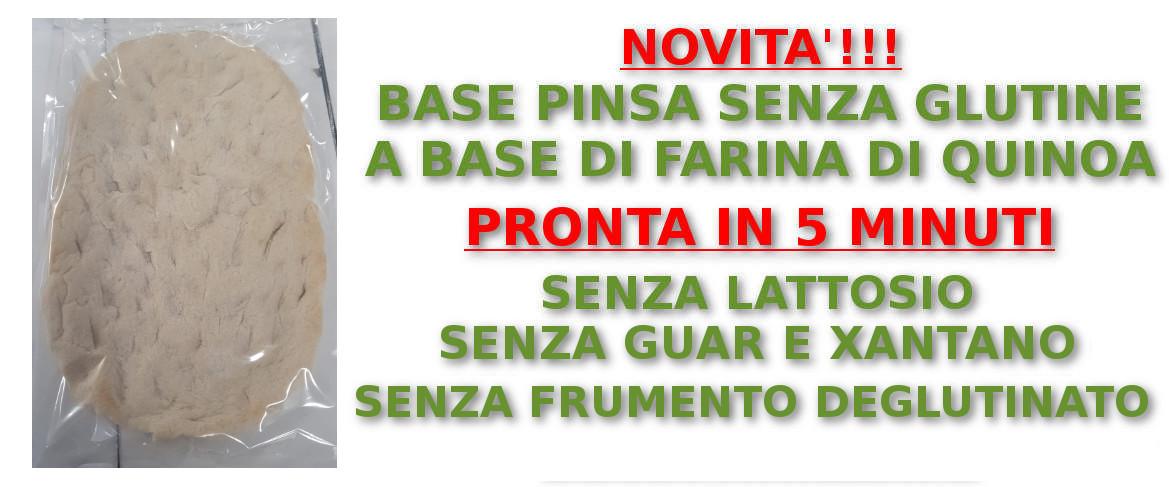 Basi precotte di Pinsa Romana senza glutine